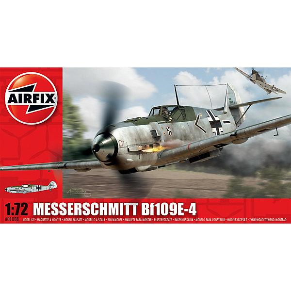 Сборная модель Airfix Истребитель Messerschmitt Bf109E-4 1:72Самолеты и вертолеты<br>Характеристики:<br><br>• возраст: от 8 лет;<br>• материал: пластик;<br>• масштаб: 1:72;<br>• количество элементов: 64;<br>• схема покраски;<br>• клей и краски: не в наборе;<br>• длина модели: 12,6 см;<br>• размах крыльев: 13,7 см;<br>• вес упаковки: 83 гр.;<br>• размер упаковки: 23,5х12,6х3,1 см;<br>• страна бренда: Великобритания.<br><br>Модель для сборки Messerschmitt Bf109E-4 от Airfix изображает одноименный военный истребитель. Каждая деталь выполнена из качественного пластика, элементы детализированы под покраску.<br><br>В подробной инструкции описаны шаги к созданию идентичной копии самолета. Конструирование модели развивает усидчивость и внимательность, повышает творческие способности и задействует пространственное мышление.<br><br>Готовая модель может стать отличным подарком близким, личным сувениром или частью коллекции сборных моделей.<br><br>Сборную модель Messerschmitt Bf109E-4 1:72 можно купить в нашем интернет-магазине.<br>Ширина мм: 235; Глубина мм: 126; Высота мм: 31; Вес г: 83; Возраст от месяцев: 96; Возраст до месяцев: 2147483647; Пол: Мужской; Возраст: Детский; SKU: 7490422;