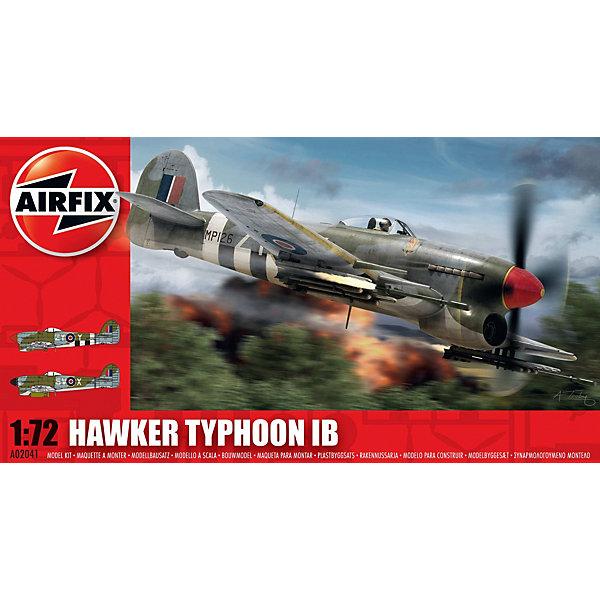 Сборная модель Airfix Истребитель  Hawker Typhoon Ib 1:72Самолеты и вертолеты<br>Характеристики:<br><br>• возраст: от 8 лет;<br>• материал: пластик;<br>• масштаб: 1:72;<br>• количество элементов: 74;<br>• схема покраски;<br>• клей и краски: не в наборе;<br>• длина модели: 13,4 см;<br>• размах крыльев: 17,4 см;<br>• вес упаковки: 160 гр.;<br>• размер упаковки: 23х12,5х4,5 см;<br>• страна бренда: Великобритания.<br><br>Модель для сборки Hawker Typhoon Ib от Airfix изображает одноименный истребитель-бомбардировщик. Каждая деталь выполнена из качественного пластика, элементы детализированы под покраску.<br><br>В подробной инструкции описаны шаги к созданию идентичной копии самолета. Конструирование модели развивает усидчивость и внимательность, повышает творческие способности и задействует пространственное мышление.<br><br>Готовая модель может стать отличным подарком близким, личным сувениром или частью коллекции сборных моделей.<br><br>Сборную модель Hawker Typhoon Ib 1:72 можно купить в нашем интернет-магазине.<br>Ширина мм: 230; Глубина мм: 125; Высота мм: 45; Вес г: 160; Возраст от месяцев: 96; Возраст до месяцев: 2147483647; Пол: Мужской; Возраст: Детский; SKU: 7490426;