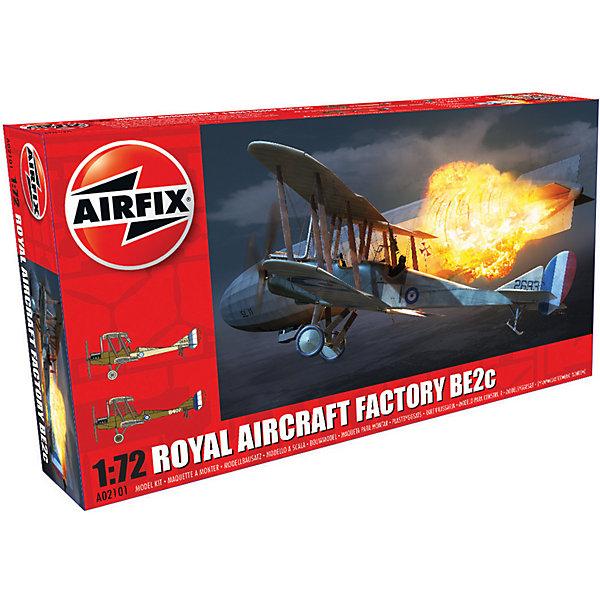 Сборная модель Airfix Истребитель Royal Aircraft Factory BE2c 1:72Самолеты и вертолеты<br>Характеристики:<br><br>• возраст: от 8 лет;<br>• материал: пластик;<br>• масштаб: 1:72;<br>• количество элементов: 54;<br>• схема покраски;<br>• клей и краски: не в наборе;<br>• длина модели: 11,5 см;<br>• размах крыльев: 15,6 см;<br>• вес упаковки: 135 гр.;<br>• размер упаковки: 12,7х4,5х23,2 см;<br>• страна бренда: Великобритания.<br><br>Модель для сборки Royal Aircraft Factory BE2c от Airfix изображает одноименный истребитель. Каждая деталь выполнена из качественного пластика, элементы детализированы под покраску.<br><br>В подробной инструкции описаны шаги к созданию идентичной копии самолета. Конструирование модели развивает усидчивость и внимательность, повышает творческие способности и задействует пространственное мышление.<br><br>Готовая модель может стать отличным подарком близким, личным сувениром или частью коллекции сборных моделей.<br><br>Сборную модель Royal Aircraft Factory BE2c 1:72 можно купить в нашем интернет-магазине.<br>Ширина мм: 127; Глубина мм: 45; Высота мм: 232; Вес г: 135; Возраст от месяцев: 96; Возраст до месяцев: 2147483647; Пол: Мужской; Возраст: Детский; SKU: 7490427;