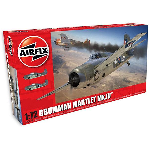 Сборная модель Airfix Истребитель Grumman Martlet Mk.IV 1:72Самолеты и вертолеты<br>Характеристики:<br><br>• возраст: от 8 лет;<br>• материал: пластик;<br>• масштаб: 1:72;<br>• количество элементов: 54;<br>• схема покраски;<br>• клей и краски: не в наборе;<br>• длина модели: 12 см;<br>• размах крыльев: 16 см;<br>• вес упаковки: 152 гр.;<br>• размер упаковки: 23х12,5х4,4 см;<br>• страна бренда: Великобритания.<br><br>Модель для сборки Grumman Martlet Mk.IV от Airfix изображает одноименный истребитель. Каждая деталь выполнена из качественного пластика, элементы детализированы под покраску.<br><br>В подробной инструкции описаны шаги к созданию идентичной копии самолета. Конструирование модели развивает усидчивость и внимательность, повышает творческие способности и задействует пространственное мышление.<br><br>Готовая модель может стать отличным подарком близким, личным сувениром или частью коллекции сборных моделей.<br><br>Сборную модель Grumman Martlet Mk.IV 1:72 можно купить в нашем интернет-магазине.<br>Ширина мм: 230; Глубина мм: 125; Высота мм: 44; Вес г: 152; Возраст от месяцев: 96; Возраст до месяцев: 2147483647; Пол: Мужской; Возраст: Детский; SKU: 7490429;
