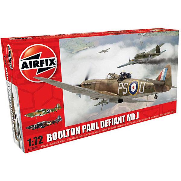 Сборная модель Airfix Истребитель Boulton Paul Defiant Mk.I 1:72Самолеты и вертолеты<br>Характеристики:<br><br>• возраст: от 8 лет;<br>• материал: пластик;<br>• масштаб: 1:72;<br>• количество элементов: 70;<br>• схема покраски;<br>• клей и краски: не в наборе;<br>• длина модели: 15 см;<br>• размах крыльев: 16,6 см;<br>• вес упаковки: 134 гр.;<br>• размер упаковки: 23х12,6х4,5 см;<br>• страна бренда: Великобритания.<br><br>Модель для сборки Boulton Paul Defiant Mk.I от Airfix изображает одноименный военный истребитель. Каждая деталь выполнена из качественного пластика, элементы детализированы под покраску.<br><br>В подробной инструкции описаны шаги к созданию идентичной копии самолета. Конструирование модели развивает усидчивость и внимательность, повышает творческие способности и задействует пространственное мышление.<br><br>Готовая модель может стать отличным подарком близким, личным сувениром или частью коллекции сборных моделей.<br><br>Сборную модель Boulton Paul Defiant Mk.I 1:72 можно купить в нашем интернет-магазине.<br>Ширина мм: 230; Глубина мм: 126; Высота мм: 45; Вес г: 134; Возраст от месяцев: 96; Возраст до месяцев: 2147483647; Пол: Мужской; Возраст: Детский; SKU: 7490433;