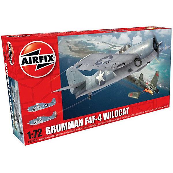 Сборная модель AirfixИстребитель  Grumman F4F-4 Wildcat 1:72Самолеты и вертолеты<br>Характеристики:<br><br>• возраст: от 8 лет;<br>• материал: пластик;<br>• масштаб: 1:72;<br>• количество элементов: 58;<br>• схема покраски;<br>• клей и краски: не в наборе;<br>• длина модели: 12,2 см;<br>• размах крыльев: 16 см;<br>• вес упаковки: 150 гр.;<br>• размер упаковки: 23х12,5х4,3 см;<br>• страна бренда: Великобритания.<br><br>Модель для сборки Grumman F4F-4 Wildcat от Airfix изображает одноименный истребитель-бомбардировщик США. Каждая деталь выполнена из качественного пластика, элементы детализированы под покраску.<br><br>В подробной инструкции описаны шаги к созданию идентичной копии самолета. Конструирование модели развивает усидчивость и внимательность, повышает творческие способности и задействует пространственное мышление.<br><br>Готовая модель может стать отличным подарком близким, личным сувениром или частью коллекции сборных моделей.<br><br>Сборную модель Grumman F4F-4 Wildcat 1:72 можно купить в нашем интернет-магазине.<br>Ширина мм: 230; Глубина мм: 125; Высота мм: 43; Вес г: 150; Возраст от месяцев: 96; Возраст до месяцев: 2147483647; Пол: Мужской; Возраст: Детский; SKU: 7490434;