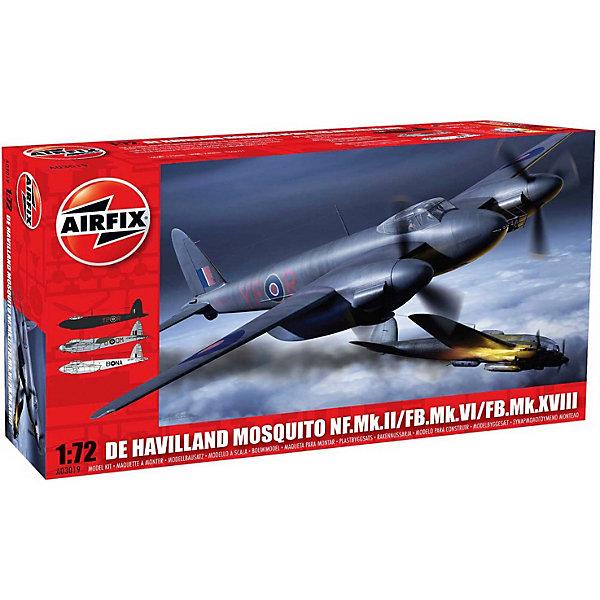 Сборная модель Airfix Истребитель De Havilland Mosquito MkII/VI/XVIII 1:72Самолеты и вертолеты<br>Характеристики:<br><br>• возраст: от 8 лет;<br>• материал: пластик;<br>• масштаб: 1:72;<br>• количество элементов: 97;<br>• схема покраски;<br>• клей и краски: не в наборе;<br>• длина модели: 17,1 см;<br>• размах крыльев: 22,8 см;<br>• вес упаковки: 181 гр.;<br>• размер упаковки: 28,2х16,2х5,1 см;<br>• страна бренда: Великобритания.<br><br>Модель для сборки De Havilland Mosquito MkII/VI/XVIII от Airfix изображает одноименный истребитель-бомбардировщик Британии. Каждая деталь выполнена из качественного пластика, элементы детализированы под покраску.<br><br>В подробной инструкции описаны шаги к созданию идентичной копии самолета. Конструирование модели развивает усидчивость и внимательность, повышает творческие способности и задействует пространственное мышление.<br><br>Готовая модель может стать отличным подарком близким, личным сувениром или частью коллекции сборных моделей.<br><br>Сборную модель De Havilland Mosquito MkII/VI/XVIII 1:72 можно купить в нашем интернет-магазине.<br>Ширина мм: 282; Глубина мм: 162; Высота мм: 51; Вес г: 181; Возраст от месяцев: 96; Возраст до месяцев: 2147483647; Пол: Мужской; Возраст: Детский; SKU: 7490436;