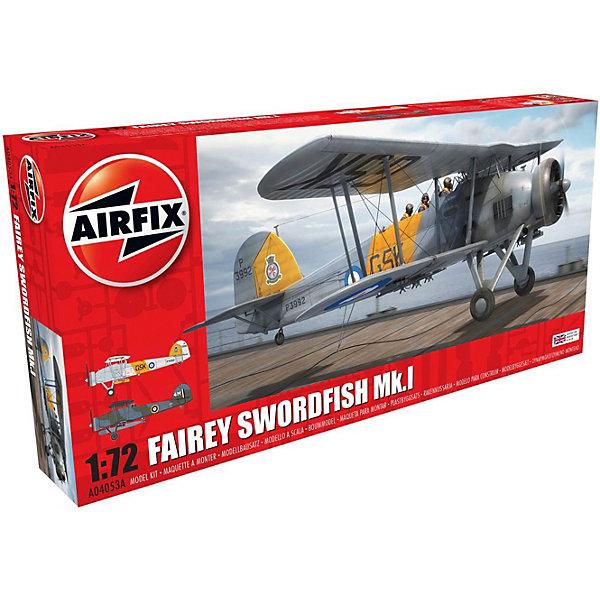 Сборная модель Airfix Бомбардировщк Fairey Swordfish Mk.I 1:72Самолеты и вертолеты<br>Характеристики:<br><br>• возраст: от 8 лет;<br>• материал: пластик;<br>• масштаб: 1:72;<br>• количество элементов: 125;<br>• схема покраски;<br>• клей и краски: не в наборе;<br>• длина модели: 15,4 см;<br>• размах крыльев: 19,3 см;<br>• вес упаковки: 298 гр.;<br>• размер упаковки: 34х16,2х5 см;<br>• страна бренда: Великобритания.<br><br>Модель для сборки Fairey Swordfish Mk.I от Airfix изображает одноименный британский бомбардировщик. Каждая деталь выполнена из качественного пластика, элементы детализированы под покраску.<br><br>В подробной инструкции описаны шаги к созданию идентичной копии самолета. Конструирование модели развивает усидчивость и внимательность, повышает творческие способности и задействует пространственное мышление.<br><br>Готовая модель может стать отличным подарком близким, личным сувениром или частью коллекции сборных моделей.<br><br>Сборную модель Fairey Swordfish Mk.I 1:72 можно купить в нашем интернет-магазине.<br>Ширина мм: 340; Глубина мм: 162; Высота мм: 50; Вес г: 298; Возраст от месяцев: 96; Возраст до месяцев: 2147483647; Пол: Мужской; Возраст: Детский; SKU: 7490438;