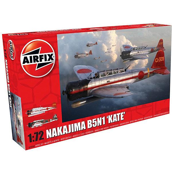 Сборная модель Airfix Самолет Nakajima B5N1 Kate 1:72Самолеты и вертолеты<br>Характеристики:<br><br>• возраст: от 8 лет;<br>• материал: пластик;<br>• масштаб: 1:72;<br>• количество элементов: 105;<br>• схема покраски;<br>• клей и краски: не в наборе;<br>• длина модели: 14,2 см;<br>• размах крыльев: 21,6 см;<br>• вес упаковки: 204 гр.;<br>• размер упаковки: 28,1х16,3х5,1 см;<br>• страна бренда: Великобритания.<br><br>Модель для сборки Nakajima B5N1 «Kate» от Airfix изображает одноименный военный самолет Японии. Каждая деталь выполнена из качественного пластика, элементы детализированы под покраску.<br><br>В подробной инструкции описаны шаги к созданию идентичной копии самолета. Конструирование модели развивает усидчивость и внимательность, повышает творческие способности и задействует пространственное мышление.<br><br>Готовая модель может стать отличным подарком близким, личным сувениром или частью коллекции сборных моделей.<br><br>Сборную модель Nakajima B5N1 «Kate» 1:72 можно купить в нашем интернет-магазине.<br>Ширина мм: 281; Глубина мм: 163; Высота мм: 51; Вес г: 204; Возраст от месяцев: 96; Возраст до месяцев: 2147483647; Пол: Мужской; Возраст: Детский; SKU: 7490439;