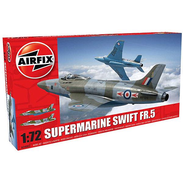 Сборная модель Airfix Истребитель Supermarine Swift FR.5 1:72Самолеты и вертолеты<br>Характеристики:<br><br>• возраст: от 8 лет;<br>• материал: пластик;<br>• масштаб: 1:72;<br>• количество элементов: 62;<br>• схема покраски;<br>• клей и краски: не в наборе;<br>• длина модели: 18 см;<br>• размах крыльев: 13,8 см;<br>• вес упаковки: 209 гр.;<br>• размер упаковки: 28,3х5х16,4 см;<br>• страна бренда: Великобритания.<br><br>Модель для сборки Supermarine Swift FR.5 от Airfix изображает одноименный реактивный истребитель Британии. Каждая деталь выполнена из качественного пластика, элементы детализированы под покраску.<br><br>В подробной инструкции описаны шаги к созданию идентичной копии самолета. Конструирование модели развивает усидчивость и внимательность, повышает творческие способности и задействует пространственное мышление.<br><br>Готовая модель может стать отличным подарком близким, личным сувениром или частью коллекции сборных моделей.<br><br>Сборную модель Supermarine Swift FR.5 1:72 можно купить в нашем интернет-магазине.<br>Ширина мм: 283; Глубина мм: 50; Высота мм: 164; Вес г: 209; Возраст от месяцев: 96; Возраст до месяцев: 2147483647; Пол: Мужской; Возраст: Детский; SKU: 7490441;