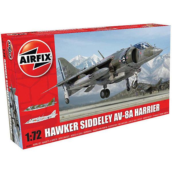Сборная модель Airfix Истоебитель Hawker Siddeley Harrier AV-8A 1:72Самолеты и вертолеты<br>Характеристики:<br><br>• возраст: от 8 лет;<br>• материал: пластик;<br>• масштаб: 1:72;<br>• количество элементов: 114;<br>• схема покраски;<br>• клей и краски: не в наборе;<br>• длина модели: 19,8 см;<br>• размах крыльев: 10,7 см;<br>• вес упаковки: 211 гр.;<br>• размер упаковки: 28х5,1х16,3 см;<br>• страна бренда: Великобритания.<br><br>Модель для сборки Hawker Siddeley Harrier AV-8A от Airfix изображает одноименный истребитель-бомбардировщик Британии. Каждая деталь выполнена из качественного пластика, элементы детализированы под покраску.<br><br>В подробной инструкции описаны шаги к созданию идентичной копии самолета. Конструирование модели развивает усидчивость и внимательность, повышает творческие способности и задействует пространственное мышление.<br><br>Готовая модель может стать отличным подарком близким, личным сувениром или частью коллекции сборных моделей.<br><br>Сборную модель Hawker Siddeley Harrier AV-8A 1:72 можно купить в нашем интернет-магазине.<br>Ширина мм: 282; Глубина мм: 51; Высота мм: 163; Вес г: 211; Возраст от месяцев: 96; Возраст до месяцев: 2147483647; Пол: Мужской; Возраст: Детский; SKU: 7490444;