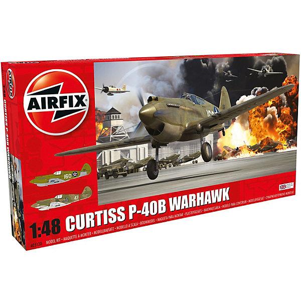 Сборная модель Airfix Самолет Curtiss P-40B Warhawk 1:48Самолеты и вертолеты<br>Характеристики:<br><br>• возраст: от 8 лет;<br>• материал: пластик;<br>• масштаб: 1:48;<br>• количество элементов: 106;<br>• схема покраски;<br>• клей и краски: не в наборе;<br>• длина модели: 20,2 см;<br>• размах крыльев: 23,7 см;<br>• вес упаковки: 282 гр.;<br>• размер упаковки: 36х18,5х5 см;<br>• страна бренда: Великобритания.<br><br>Модель для сборки Curtiss P-40B Warhawk от Airfix изображает одноименный американский истребитель. Каждая деталь выполнена из качественного пластика, элементы детализированы под покраску.<br><br>В подробной инструкции описаны шаги к созданию идентичной копии самолета. Конструирование модели развивает усидчивость и внимательность, повышает творческие способности и задействует пространственное мышление.<br><br>Готовая модель может стать отличным подарком близким, личным сувениром или частью коллекции сборных моделей.<br><br>Сборную модель Curtiss P-40B Warhawk 1:48 можно купить в нашем интернет-магазине.<br>Ширина мм: 360; Глубина мм: 185; Высота мм: 50; Вес г: 282; Возраст от месяцев: 96; Возраст до месяцев: 2147483647; Пол: Мужской; Возраст: Детский; SKU: 7490446;