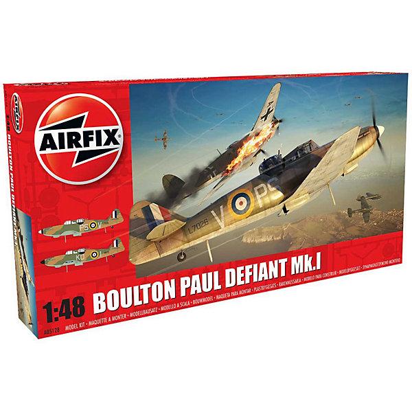 Сборная модель Airfix Истребитель Boulton Paul Defiant Mk.I 1:48Самолеты и вертолеты<br>Характеристики:<br><br>• возраст: от 8 лет;<br>• материал: пластик;<br>• масштаб: 1:48;<br>• количество элементов: 113;<br>• схема покраски;<br>• клей и краски: не в наборе;<br>• длина модели: 22,5 см;<br>• размах крыльев: 25 см;<br>• вес упаковки: 280 гр.;<br>• размер упаковки: 35,9х18,5х4,9 см;<br>• страна бренда: Великобритания.<br><br>Модель для сборки Boulton Paul Defiant Mk.I от Airfix изображает одноименный британский истребитель. Каждая деталь выполнена из качественного пластика, элементы детализированы под покраску.<br><br>В подробной инструкции описаны шаги к созданию идентичной копии самолета. Конструирование модели развивает усидчивость и внимательность, повышает творческие способности и задействует пространственное мышление.<br><br>Готовая модель может стать отличным подарком близким, личным сувениром или частью коллекции сборных моделей.<br><br>Сборную модель Boulton Paul Defiant Mk.I 1:48 можно купить в нашем интернет-магазине.<br>Ширина мм: 359; Глубина мм: 185; Высота мм: 49; Вес г: 280; Возраст от месяцев: 96; Возраст до месяцев: 2147483647; Пол: Мужской; Возраст: Детский; SKU: 7490447;