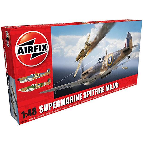 Сборная модель Airfix Истребитель Supermarine Spitfire MkVb 1:48Самолеты и вертолеты<br>Характеристики:<br><br>• возраст: от 8 лет;<br>• материал: пластик;<br>• масштаб: 1:48;<br>• количество элементов: 151;<br>• схема покраски;<br>• клей и краски: не в наборе;<br>• длина модели: 19,5 см;<br>• размах крыльев: 25,2 см;<br>• вес упаковки: 290 гр.;<br>• размер упаковки: 36х18,5х5 см;<br>• страна бренда: Великобритания.<br><br>Модель для сборки Supermarine Spitfire MkVb от Airfix изображает одноименный британский истребитель. Каждая деталь выполнена из качественного пластика, элементы детализированы под покраску.<br><br>В подробной инструкции описаны шаги к созданию идентичной копии самолета. Конструирование модели развивает усидчивость и внимательность, повышает творческие способности и задействует пространственное мышление.<br><br>Готовая модель может стать отличным подарком близким, личным сувениром или частью коллекции сборных моделей.<br><br>Сборную модель Supermarine Spitfire MkVb 1:48 можно купить в нашем интернет-магазине.<br>Ширина мм: 360; Глубина мм: 185; Высота мм: 50; Вес г: 290; Возраст от месяцев: 96; Возраст до месяцев: 2147483647; Пол: Мужской; Возраст: Детский; SKU: 7490450;