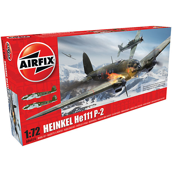 Сборная модель Airfix Бомбардировщик Heinkel He.111 P2 1:72Самолеты и вертолеты<br>Характеристики:<br><br>• возраст: от 8 лет;<br>• материал: пластик;<br>• масштаб: 1:72;<br>• количество элементов: 151;<br>• схема покраски;<br>• клей и краски: не в наборе;<br>• длина модели: 23 см;<br>• размах крыльев: 31,2 см;<br>• вес упаковки: 449 гр.;<br>• размер упаковки: 42,9х20,7х6,2 см;<br>• страна бренда: Великобритания.<br><br>Модель для сборки Heinkel He.111 P2 от Airfix изображает одноименный немецкий бомбардировщик. Каждая деталь выполнена из качественного пластика, элементы детализированы под покраску.<br><br>В подробной инструкции описаны шаги к созданию идентичной копии самолета. Конструирование модели развивает усидчивость и внимательность, повышает творческие способности и задействует пространственное мышление.<br><br>Готовая модель может стать отличным подарком близким, личным сувениром или частью коллекции сборных моделей.<br><br>Сборную модель Heinkel He.111 P2 1:72 можно купить в нашем интернет-магазине.<br>Ширина мм: 429; Глубина мм: 207; Высота мм: 62; Вес г: 449; Возраст от месяцев: 96; Возраст до месяцев: 2147483647; Пол: Мужской; Возраст: Детский; SKU: 7490453;