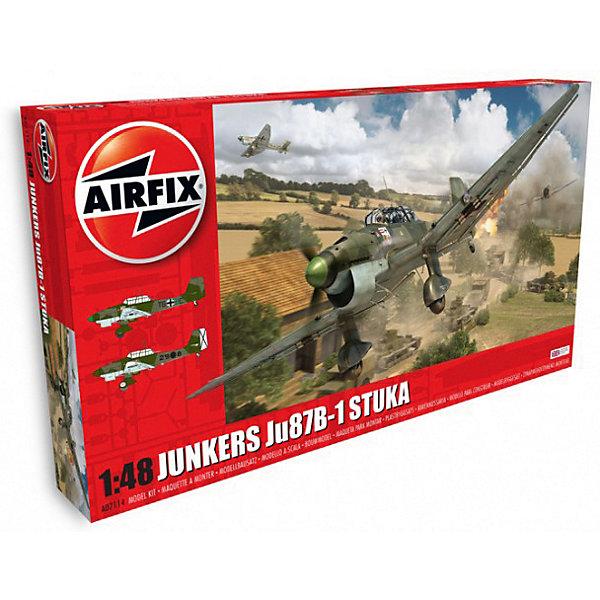 Сборная модель Airfix Бомбардировщик Junkers Ju87 B-1 Stuka 1:48Самолеты и вертолеты<br>Характеристики:<br><br>• возраст: от 8 лет;<br>• материал: пластик;<br>• масштаб: 1:48;<br>• количество элементов: 158;<br>• схема покраски;<br>• клей и краски: не в наборе;<br>• длина модели: 22,9 см;<br>• размах крыльев: 28,8 см;<br>• вес упаковки: 562 гр.;<br>• размер упаковки: 45х25х7,2 см;<br>• страна бренда: Великобритания.<br><br>Модель для сборки Junkers Ju87 B-1 Stuka от Airfix изображает одноименный немецкий бомбардировщик. Каждая деталь выполнена из качественного пластика, элементы детализированы под покраску.<br><br>В подробной инструкции описаны шаги к созданию идентичной копии самолета. Конструирование модели развивает усидчивость и внимательность, повышает творческие способности и задействует пространственное мышление.<br><br>Готовая модель может стать отличным подарком близким, личным сувениром или частью коллекции сборных моделей.<br><br>Сборную модель Junkers Ju87 B-1 Stuka 1:48 можно купить в нашем интернет-магазине.<br>Ширина мм: 450; Глубина мм: 250; Высота мм: 72; Вес г: 562; Возраст от месяцев: 96; Возраст до месяцев: 2147483647; Пол: Мужской; Возраст: Детский; SKU: 7490455;