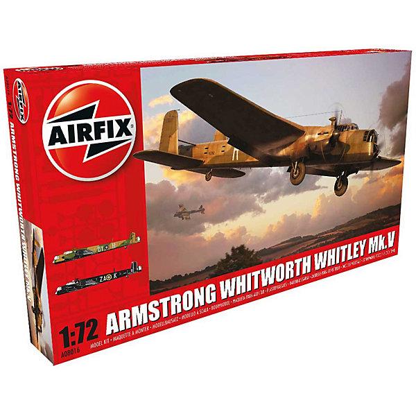 Сборная модель Airfix Самолет Armstrong Whitworth Whitley Mk.V 1:72Самолеты и вертолеты<br>Характеристики:<br><br>• возраст: от 8 лет;<br>• материал: пластик;<br>• масштаб: 1:72;<br>• количество элементов: 142;<br>• схема покраски;<br>• клей и краски: не в наборе;<br>• длина модели: 31,3 см;<br>• размах крыльев: 35,6 см;<br>• вес упаковки: 567 гр.;<br>• размер упаковки: 45,4х5,8х25 см;<br>• страна бренда: Великобритания.<br><br>Модель для сборки Armstrong Whitworth Whitley Mk.V от Airfix изображает одноименный бомбардировщик. Каждая деталь выполнена из качественного пластика, элементы детализированы под покраску.<br><br>В подробной инструкции описаны шаги к созданию идентичной копии самолета. Конструирование модели развивает усидчивость и внимательность, повышает творческие способности и задействует пространственное мышление.<br><br>Готовая модель может стать отличным подарком близким, личным сувениром или частью коллекции сборных моделей.<br><br>Сборную модель Armstrong Whitworth Whitley Mk.V 1:72 можно купить в нашем интернет-магазине.<br>Ширина мм: 454; Глубина мм: 58; Высота мм: 250; Вес г: 567; Возраст от месяцев: 96; Возраст до месяцев: 2147483647; Пол: Мужской; Возраст: Детский; SKU: 7490459;