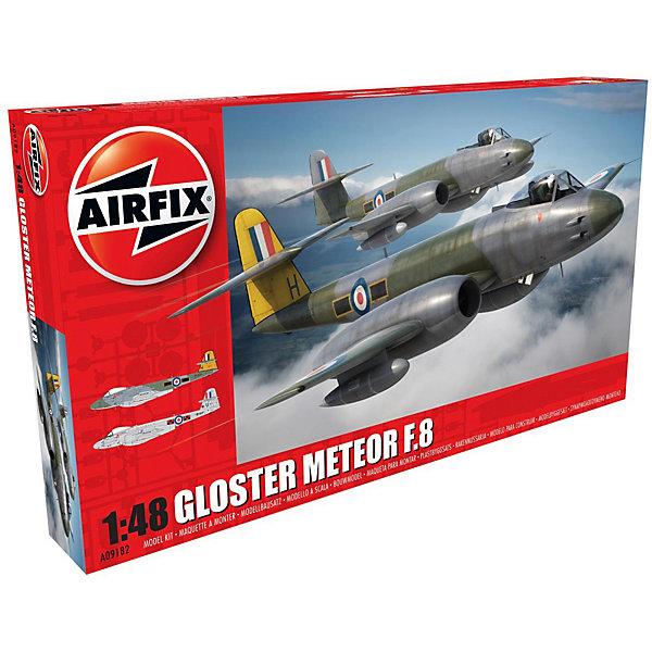 Сборная модель Airfix Самолет Gloster Meteor F8 1:48Самолеты и вертолеты<br>Характеристики:<br><br>• возраст: от 8 лет;<br>• материал: пластик;<br>• масштаб: 1:48;<br>• количество элементов: 165;<br>• схема покраски;<br>• клей и краски: не в наборе;<br>• длина модели: 28,7 см;<br>• размах крыльев: 23,6 см;<br>• вес упаковки: 575 гр.;<br>• размер упаковки: 45,3х24,8х6 см;<br>• страна бренда: Великобритания.<br><br>Модель для сборки Gloster Meteor F8 от Airfix изображает одноименный реактивный истребитель Британии. Каждая деталь выполнена из качественного пластика, элементы детализированы под покраску.<br><br>В подробной инструкции описаны шаги к созданию идентичной копии самолета. Конструирование модели развивает усидчивость и внимательность, повышает творческие способности и задействует пространственное мышление.<br><br>Готовая модель может стать отличным подарком близким, личным сувениром или частью коллекции сборных моделей.<br><br>Сборную модель Gloster Meteor F8 1:48 можно купить в нашем интернет-магазине.<br>Ширина мм: 453; Глубина мм: 248; Высота мм: 60; Вес г: 575; Возраст от месяцев: 96; Возраст до месяцев: 2147483647; Пол: Мужской; Возраст: Детский; SKU: 7490460;