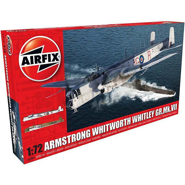 Сборная модель Airfix Самолет Armstrong Whitworth Whitley Mk.VII 1:72Самолеты и вертолеты<br>Характеристики:<br><br>• возраст: от 8 лет;<br>• материал: пластик;<br>• масштаб: 1:72;<br>• количество элементов: 187;<br>• схема покраски;<br>• клей и краски: не в наборе;<br>• длина модели: 31,3 см;<br>• размах крыльев: 35,6 см;<br>• вес упаковки: 616 гр.;<br>• размер упаковки: 45,2х25,2х5,8 см;<br>• страна бренда: Великобритания.<br><br>Модель для сборки Armstrong Whitworth Whitley Mk.VII от Airfix изображает одноименный средний бомбардировщик Британии. Каждая деталь выполнена из качественного пластика, элементы детализированы под покраску.<br><br>В подробной инструкции описаны шаги к созданию идентичной копии самолета. Конструирование модели развивает усидчивость и внимательность, повышает творческие способности и задействует пространственное мышление.<br><br>Готовая модель может стать отличным подарком близким, личным сувениром или частью коллекции сборных моделей.<br><br>Сборную модель Armstrong Whitworth Whitley Mk.VII 1:72 можно купить в нашем интернет-магазине.<br>Ширина мм: 452; Глубина мм: 250; Высота мм: 58; Вес г: 616; Возраст от месяцев: 96; Возраст до месяцев: 2147483647; Пол: Мужской; Возраст: Детский; SKU: 7490461;