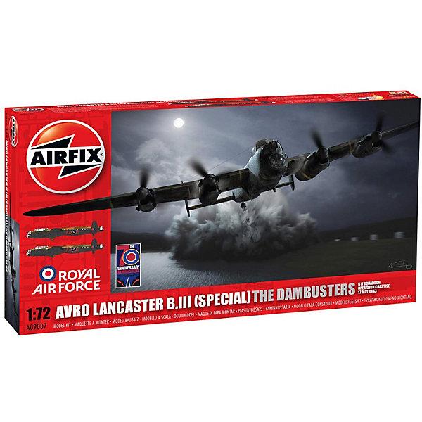 Сборная модель Airfix Самолет Avro Lancaster B.III (Special) The Dambusters 1:72Самолеты и вертолеты<br>Характеристики:<br><br>• возраст: от 8 лет;<br>• материал: пластик;<br>• масштаб: 1:72;<br>• количество элементов: 239;<br>• схема покраски;<br>• клей и краски: не в наборе;<br>• длина модели: 29,4 см;<br>• размах крыльев: 43,2 см;<br>• вес упаковки: 750 гр.;<br>• размер упаковки: 45,2х25,2х5,8 см;<br>• страна бренда: Великобритания.<br><br>Модель для сборки Avro Lancaster B.III (Special) The Dambusters от Airfix изображает одноименный тяжелый бомбардировщик Британии. Каждая деталь выполнена из качественного пластика, элементы детализированы под покраску.<br><br>В подробной инструкции описаны шаги к созданию идентичной копии самолета. Конструирование модели развивает усидчивость и внимательность, повышает творческие способности и задействует пространственное мышление.<br><br>Готовая модель может стать отличным подарком близким, личным сувениром или частью коллекции сборных моделей.<br><br>Сборную модель Avro Lancaster B.III (Special) The Dambusters 1:72 можно купить в нашем интернет-магазине.<br>Ширина мм: 452; Глубина мм: 252; Высота мм: 58; Вес г: 750; Возраст от месяцев: 96; Возраст до месяцев: 2147483647; Пол: Мужской; Возраст: Детский; SKU: 7490462;