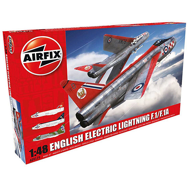 Сборная модель Airfix Истребитель English Electric Lightning 1:48Самолеты и вертолеты<br>Характеристики:<br><br>• возраст: от 8 лет;<br>• материал: пластик;<br>• масштаб: 1:48;<br>• количество элементов: 153;<br>• схема покраски;<br>• клей и краски: не в наборе;<br>• длина модели: 35 см;<br>• размах крыльев: 22 см;<br>• вес упаковки: 658 гр.;<br>• размер упаковки: 49,9х32х7 см;<br>• страна бренда: Великобритания.<br><br>Модель для сборки English Electric Lightning F1/F1A/F2/F3 от Airfix изображает одноименный истребитель-перехватчик Британии. Каждая деталь выполнена из качественного пластика, элементы детализированы под покраску.<br><br>В подробной инструкции описаны шаги к созданию идентичной копии самолета. Конструирование модели развивает усидчивость и внимательность, повышает творческие способности и задействует пространственное мышление.<br><br>Готовая модель может стать отличным подарком близким, личным сувениром или частью коллекции сборных моделей.<br><br>Сборную модель English Electric Lightning F1/F1A/F2/F3 1:48 можно купить в нашем интернет-магазине.<br>Ширина мм: 499; Глубина мм: 320; Высота мм: 70; Вес г: 658; Возраст от месяцев: 96; Возраст до месяцев: 2147483647; Пол: Мужской; Возраст: Детский; SKU: 7490464;