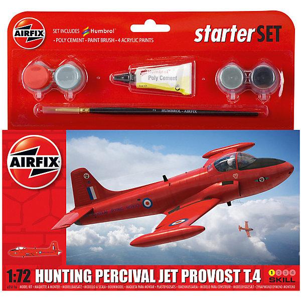 Подарочный набор Airfix Самолет Hunting Percival Jet Provost T3 1:72Военная техника и панорама<br>Характеристики:<br><br>• возраст: от 8 лет;<br>• материал: пластик;<br>• количество элементов: 45;<br>• масштаб: 1:72;<br>• схема покраски;<br>• в наборе: клей, кисточка, 4 краски;<br>• длина модели: 13,7 см;<br>• размах крыльев: 15,6 см;<br>• вес упаковки: 154 гр.;<br>• размер упаковки: 23,4х22,5х3 см;<br>• страна бренда: Великобритания.<br><br>Модель для сборки Hunting Percival Jet Provost T3 от Airfix изображает одноименный самолет. Каждая деталь выполнена из качественного пластика, элементы детализированы под покраску.<br><br>В подробной инструкции описаны шаги к созданию идентичной копии самолета. Конструирование модели развивает усидчивость и внимательность, повышает творческие способности и задействует пространственное мышление. Стартовый набор подойдет для начинающих моделистов.<br><br>Готовая модель может стать отличным подарком близким, личным сувениром или частью коллекции сборных моделей.<br><br>Подарочный набор – Hunting Percival Jet Provost T3 1:72 можно купить в нашем интернет-магазине.<br>Ширина мм: 234; Глубина мм: 225; Высота мм: 30; Вес г: 154; Возраст от месяцев: 96; Возраст до месяцев: 2147483647; Пол: Мужской; Возраст: Детский; SKU: 7490480;