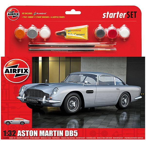 Сборная модель Airfix Автомобиль Aston Martin DB5 1:32Автомобили<br>Характеристики:<br><br>• возраст: от 8 лет;<br>• материал: пластик;<br>• количество элементов: 42;<br>• масштаб: 1:32;<br>• схема покраски;<br>• в наборе: клей, 2 кисточки, 6 красок;<br>• длина модели: 14,3 см;<br>• ширина модели: 5,2 см;<br>• вес упаковки: 165 гр.;<br>• размер упаковки: 23,2х4,6х25 см;<br>• страна бренда: Великобритания.<br><br>Модель для сборки Aston Martin DB5 от Airfix изображает одноименный автомобиль. Каждая деталь выполнена из качественного пластика, элементы детализированы под покраску.<br><br>В подробной инструкции описаны шаги к созданию идентичной копии машины. Конструирование модели развивает усидчивость и внимательность, повышает творческие способности и задействует пространственное мышление. Набор подойдет для начинающих и практикующих моделистов.<br><br>Готовая модель может стать отличным подарком близким, личным сувениром или частью коллекции сборных моделей.<br><br>Подарочный набор – Aston Martin DB5 1:32 можно купить в нашем интернет-магазине.<br>Ширина мм: 232; Глубина мм: 46; Высота мм: 250; Вес г: 165; Возраст от месяцев: 96; Возраст до месяцев: 2147483647; Пол: Мужской; Возраст: Детский; SKU: 7490490;
