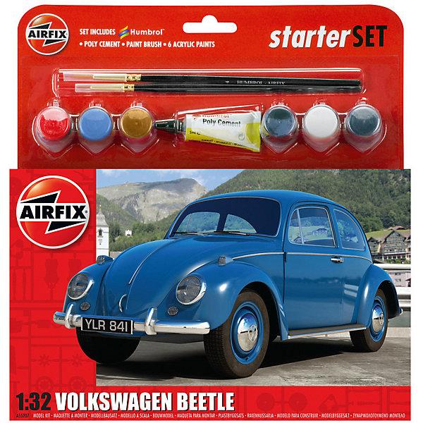 Подарочный набор Airfix Автомобиль VW Beetle 1:32Автомобили<br>Характеристики:<br><br>• возраст: от 8 лет;<br>• материал: пластик;<br>• количество элементов: 53;<br>• масштаб: 1:32;<br>• схема покраски;<br>• в наборе: клей, 2 кисточки, 6 красок;<br>• длина модели: 13 см;<br>• ширина модели: 5 см;<br>• вес упаковки: 170 гр.;<br>• размер упаковки: 23,2х4,5х25 см;<br>• страна бренда: Великобритания.<br><br>Модель для сборки VW Beetle от Airfix изображает одноименный автомобиль. Каждая деталь выполнена из качественного пластика, элементы детализированы под покраску.<br><br>В подробной инструкции описаны шаги к созданию идентичной копии машины. Конструирование модели развивает усидчивость и внимательность, повышает творческие способности и задействует пространственное мышление. Набор подойдет для начинающих и практикующих моделистов.<br><br>Готовая модель может стать отличным подарком близким, личным сувениром или частью коллекции сборных моделей.<br><br>Подарочный набор – VW Beetle 1:32 можно купить в нашем интернет-магазине.<br>Ширина мм: 232; Глубина мм: 45; Высота мм: 250; Вес г: 170; Возраст от месяцев: 96; Возраст до месяцев: 2147483647; Пол: Мужской; Возраст: Детский; SKU: 7490496;