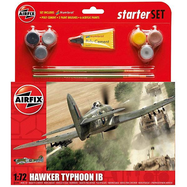 Подарочный набор Airfix Истребитель Hawker Typhoon Ib 1:72Самолеты и вертолеты<br>Характеристики:<br><br>• возраст: от 8 лет;<br>• материал: пластик;<br>• количество элементов: 74;<br>• масштаб: 1:72;<br>• схема покраски;<br>• в наборе: клей, 2 кисточки, 6 красок;<br>• длина модели: 13,4 см;<br>• размах крыльев: 17,4 см;<br>• вес упаковки: 208 гр.;<br>• размер упаковки: 23х4,5х25 см;<br>• страна бренда: Великобритания.<br><br>Модель для сборки Hawker Typhoon Ib от Airfix изображает одноименный штурмовик. Каждая деталь выполнена из качественного пластика, элементы детализированы под покраску.<br><br>В подробной инструкции описаны шаги к созданию идентичной копии самолета. Конструирование модели развивает усидчивость и внимательность, повышает творческие способности и задействует пространственное мышление. Набор подойдет для начинающих и практикующих моделистов.<br><br>Готовая модель может стать отличным подарком близким, личным сувениром или частью коллекции сборных моделей.<br><br>Подарочный набор – Hawker Typhoon Ib 1:72 можно купить в нашем интернет-магазине.<br>Ширина мм: 230; Глубина мм: 45; Высота мм: 250; Вес г: 208; Возраст от месяцев: 96; Возраст до месяцев: 2147483647; Пол: Мужской; Возраст: Детский; SKU: 7490497;