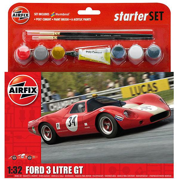 Подарочный набор  Airfix Автомобиль Ford 3 Litre GT 1:32Автомобили<br>Характеристики:<br><br>• возраст: от 8 лет;<br>• материал: пластик;<br>• количество элементов: 53;<br>• масштаб: 1:32;<br>• схема покраски;<br>• в наборе: клей, 2 кисточки, 6 красок;<br>• длина модели: 13,2 см;<br>• ширина модели: 5 см;<br>• вес упаковки: 177 гр.;<br>• размер упаковки: 23,4х4,5х25 см;<br>• страна бренда: Великобритания.<br><br>Модель для сборки Ford 3 Litre GT от Airfix изображает одноименный спортивный автомобиль. Каждая деталь выполнена из качественного пластика, элементы детализированы под покраску.<br><br>В подробной инструкции описаны шаги к созданию идентичной копии машины. Конструирование модели развивает усидчивость и внимательность, повышает творческие способности и задействует пространственное мышление. Набор подойдет для начинающих и практикующих моделистов.<br><br>Готовая модель может стать отличным подарком близким, личным сувениром или частью коллекции сборных моделей.<br><br>Подарочный набор большой – Ford 3 Litre GT 1:32 можно купить в нашем интернет-магазине.<br>Ширина мм: 234; Глубина мм: 45; Высота мм: 250; Вес г: 177; Возраст от месяцев: 96; Возраст до месяцев: 2147483647; Пол: Мужской; Возраст: Детский; SKU: 7490508;