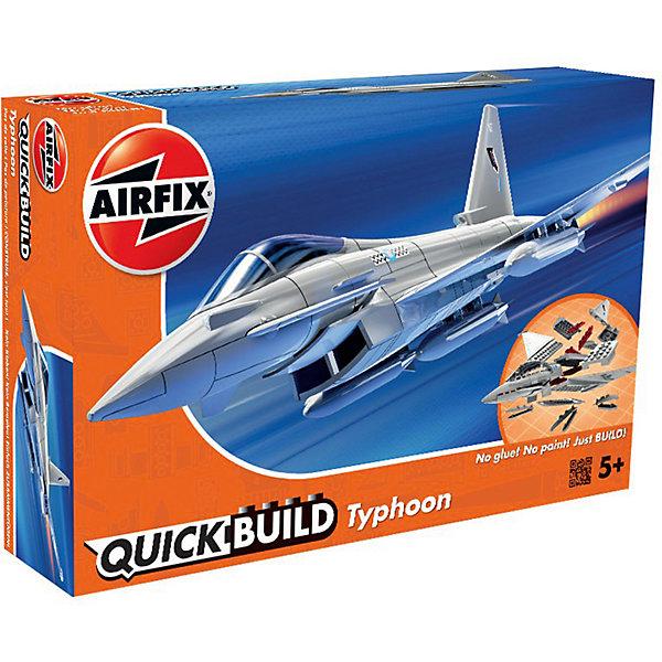 Конструктор Airfix Самолет Eurofighter TyphoonСамолеты и вертолеты<br>Характеристики:<br><br>• возраст: от 5 лет;<br>• материал: пластик;<br>• количество элементов: 27 + 3 детали для стенда;<br>• размер модели: 23,1х16х7,7 см;<br>• вес упаковки: 152 гр.;<br>• размер упаковки: 23х15х5 см;<br>• страна бренда: Великобритания.<br><br>Модель-конструктор самолета серии Quickbuild от Airfix отличается от классических сборных моделей тем, что для ее создания не нужен клей и красители – все элементы уже покрыты стойкой невыцветающей краской, а детали надежно соединяются между собой по принципу конструктора. Готовую модель можно дополнить наклейками из набора и поставить на специальный пьедестал.<br><br>Сборка развивает усидчивость и внимательность, повышает творческие способности и задействует пространственное мышление. Набор подойдет даже для совсем юных моделистов. Готовая модель может стать отличным подарком близким, личным сувениром или частью коллекции.<br><br>Модель-конструктор Quickbuild Eurofighter Typhoon можно купить в нашем интернет-магазине.<br>Ширина мм: 230; Глубина мм: 150; Высота мм: 50; Вес г: 152; Возраст от месяцев: 60; Возраст до месяцев: 2147483647; Пол: Мужской; Возраст: Детский; SKU: 7490513;