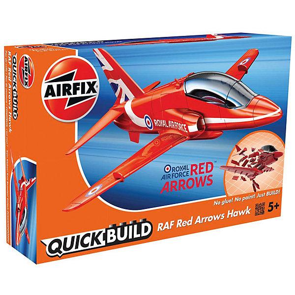 Конструктор Airfix Самолет Red Arrows HawkСамолеты и вертолеты<br>Характеристики:<br><br>• возраст: от 5 лет;<br>• материал: пластик;<br>• количество элементов: 28 + 3 детали для стенда;<br>• вес упаковки: 140 гр.;<br>• размер упаковки: 23х15х5 см;<br>• страна бренда: Великобритания.<br><br>Модель-конструктор самолета серии Quickbuild от Airfix отличается от классических сборных моделей тем, что для ее создания не нужен клей и красители – все элементы уже покрыты стойкой невыцветающей краской, а детали надежно соединяются между собой по принципу конструктора. Готовую модель можно дополнить наклейками из набора и поставить на специальный пьедестал.<br><br>Сборка развивает усидчивость и внимательность, повышает творческие способности и задействует пространственное мышление. Набор подойдет даже для совсем юных моделистов. Готовая модель может стать отличным подарком близким, личным сувениром или частью коллекции.<br><br>Модель-конструктор Quickbuild Red Arrows Hawk можно купить в нашем интернет-магазине.<br><br>Ширина мм: 230<br>Глубина мм: 150<br>Высота мм: 50<br>Вес г: 140<br>Возраст от месяцев: 60<br>Возраст до месяцев: 2147483647<br>Пол: Мужской<br>Возраст: Детский<br>SKU: 7490514