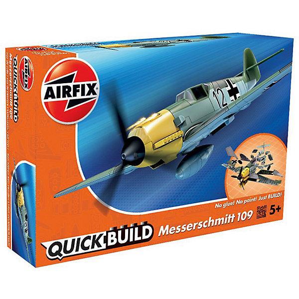 Конструктор Airfix Истребитель Messerschmitt Bf109Самолеты и вертолеты<br>Характеристики:<br><br>• возраст: от 5 лет;<br>• материал: пластик;<br>• количество элементов: 36 + 3 детали для стенда;<br>• размер модели: 22,5х25,2х6,9 см;<br>• вес упаковки: 154 гр.;<br>• размер упаковки: 23х15х5 см;<br>• страна бренда: Великобритания.<br><br>Модель-конструктор самолета серии Quickbuild от Airfix отличается от классических сборных моделей тем, что для ее создания не нужен клей и красители – все элементы уже покрыты стойкой невыцветающей краской, а детали надежно соединяются между собой по принципу конструктора. Готовую модель можно дополнить наклейками из набора и поставить на специальный пьедестал.<br><br>Сборка развивает усидчивость и внимательность, повышает творческие способности и задействует пространственное мышление. Набор подойдет даже для совсем юных моделистов. Готовая модель может стать отличным подарком близким, личным сувениром или частью коллекции.<br><br>Модель-конструктор Quickbuild Messerschmitt Bf109 можно купить в нашем интернет-магазине.<br>Ширина мм: 230; Глубина мм: 150; Высота мм: 50; Вес г: 154; Возраст от месяцев: 60; Возраст до месяцев: 2147483647; Пол: Мужской; Возраст: Детский; SKU: 7490518;