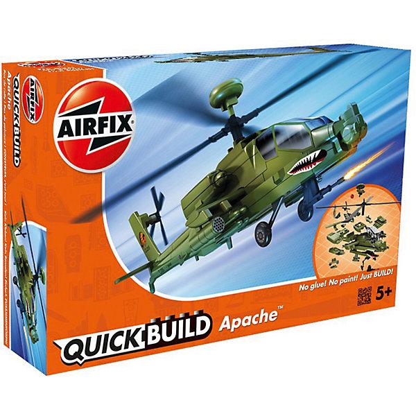 Конструктор Airfix Вертолет ApacheСамолеты и вертолеты<br>Характеристики:<br><br>• возраст: от 5 лет;<br>• материал: пластик;<br>• количество элементов: 37 + 3 детали для стенда;<br>• размер модели: 25,2х18,9х8,2 см;<br>• вес упаковки: 135 гр.;<br>• размер упаковки: 23х15х5 см;<br>• страна бренда: Великобритания.<br><br>Модель-конструктор вертолета серии Quickbuild от Airfix отличается от классических сборных моделей тем, что для ее создания не нужен клей и красители – все элементы уже покрыты стойкой невыцветающей краской, а детали надежно соединяются между собой по принципу конструктора. Готовую модель можно дополнить наклейками из набора и поставить на специальный пьедестал.<br><br>Сборка развивает усидчивость и внимательность, повышает творческие способности и задействует пространственное мышление. Набор подойдет даже для совсем юных моделистов. Готовая модель может стать отличным подарком близким, личным сувениром или частью коллекции.<br><br>Модель-конструктор Quickbuild Apache можно купить в нашем интернет-магазине.<br>Ширина мм: 230; Глубина мм: 150; Высота мм: 50; Вес г: 135; Возраст от месяцев: 60; Возраст до месяцев: 2147483647; Пол: Мужской; Возраст: Детский; SKU: 7490520;