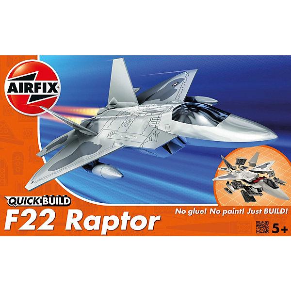 Конструктор Airfix Истребитель F22 RaptorСамолеты и вертолеты<br>Характеристики:<br><br>• возраст: от 5 лет;<br>• материал: пластик;<br>• количество элементов: 24 + 3 детали для стенда;<br>• размер модели: 20,8х15,2х4,7 см;<br>• вес упаковки: 128 гр.;<br>• размер упаковки: 23х15х5 см;<br>• страна бренда: Великобритания.<br><br>Модель-конструктор самолета серии Quickbuild от Airfix отличается от классических сборных моделей тем, что для ее создания не нужен клей и красители – все элементы уже покрыты стойкой невыцветающей краской, а детали надежно соединяются между собой по принципу конструктора. Готовую модель можно дополнить наклейками из набора и поставить на специальный пьедестал.<br><br>Сборка развивает усидчивость и внимательность, повышает творческие способности и задействует пространственное мышление. Набор подойдет даже для совсем юных моделистов. Готовая модель может стать отличным подарком близким, личным сувениром или частью коллекции.<br><br>Модель-конструктор Quickbuild F22 Raptor можно купить в нашем интернет-магазине.<br>Ширина мм: 230; Глубина мм: 150; Высота мм: 50; Вес г: 128; Возраст от месяцев: 60; Возраст до месяцев: 2147483647; Пол: Мужской; Возраст: Детский; SKU: 7490521;