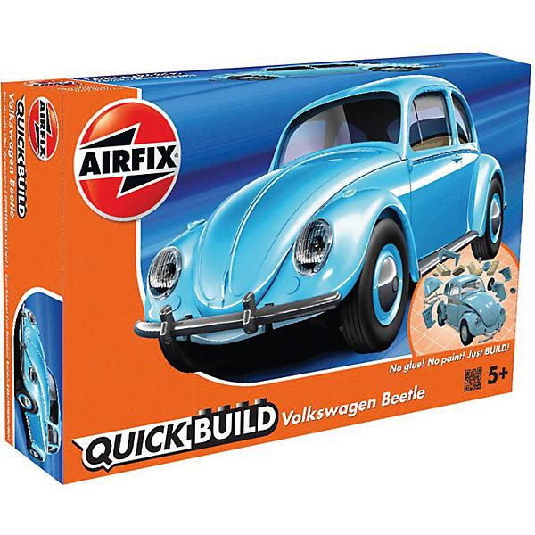 Конструктор Airfix Автомобиль VW BeetleАвтомобили<br>Характеристики:<br><br>• возраст: от 5 лет;<br>• материал: пластик;<br>• количество элементов: 36;<br>• длина модели: 18,3 см;<br>• вес упаковки: 177 гр.;<br>• размер упаковки: 23х15х5 см;<br>• страна бренда: Великобритания.<br><br>Модель-конструктор автомобиля серии Quickbuild от Airfix отличается от классических сборных моделей тем, что для ее создания не нужен клей и красители – все элементы уже покрыты стойкой невыцветающей краской, а детали надежно соединяются между собой по принципу конструктора.<br><br>Сборка развивает усидчивость и внимательность, повышает творческие способности и задействует пространственное мышление. Набор подойдет даже для совсем юных моделистов. Готовая модель может стать отличным подарком близким, личным сувениром или частью коллекции.<br><br>Модель-конструктор Quickbuild VW Beetle можно купить в нашем интернет-магазине.<br>Ширина мм: 230; Глубина мм: 150; Высота мм: 50; Вес г: 177; Возраст от месяцев: 60; Возраст до месяцев: 2147483647; Пол: Унисекс; Возраст: Детский; SKU: 7490529;