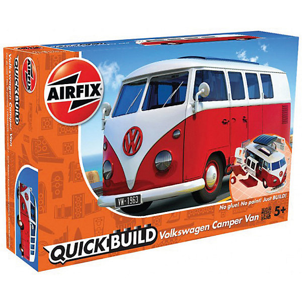 Конструктор Airfix автобус VW Camper VanАвтомобили<br>Характеристики:<br><br>• возраст: от 5 лет;<br>• материал: пластик;<br>• количество элементов: 43;<br>• длина модели: 19,5 см;<br>• вес упаковки: 289 гр.;<br>• размер упаковки: 6х23,3х15,2 см;<br>• страна бренда: Великобритания.<br><br>Модель-конструктор автобуса серии Quickbuild от Airfix отличается от классических сборных моделей тем, что для ее создания не нужен клей и красители – все элементы уже покрыты стойкой невыцветающей краской, а детали надежно соединяются между собой по принципу конструктора.<br><br>Сборка развивает усидчивость и внимательность, повышает творческие способности и задействует пространственное мышление. Набор подойдет даже для совсем юных моделистов. Готовая модель может стать отличным подарком близким, личным сувениром или частью коллекции.<br><br>Модель-конструктор Quickbuild VW Camper Van можно купить в нашем интернет-магазине.<br>Ширина мм: 60; Глубина мм: 233; Высота мм: 152; Вес г: 289; Возраст от месяцев: 60; Возраст до месяцев: 2147483647; Пол: Унисекс; Возраст: Детский; SKU: 7490530;