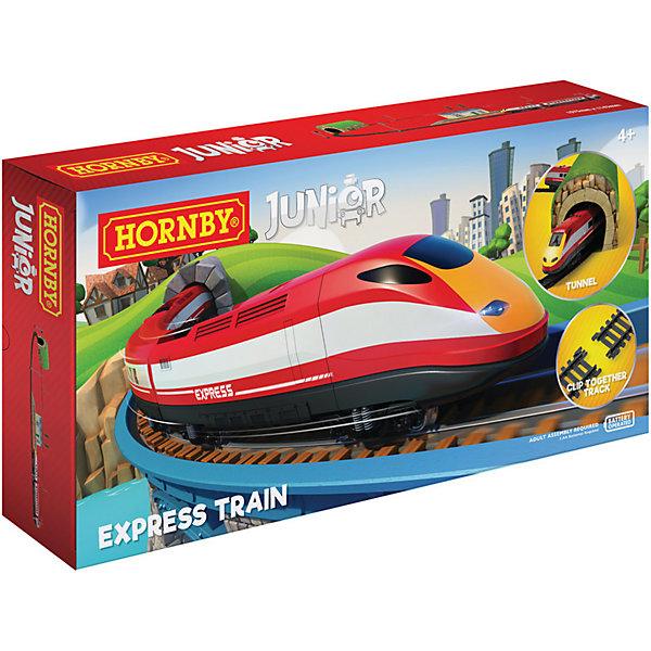 Железная дорога Airfix ЭкспрессРобототехника и электроника<br>Характеристики:<br><br>• возраст: от 4 лет;<br>• материал: пластик, картон;<br>• в комплекте: экспресс-поезд с фарой 3 шт., тоннель, станция, 16 элементов железной дороги, 2 сигнала, 4 полюса питания, 2 дерева;<br>• размер трека: 170х104 см;<br>• тип батареек: 2хАА;<br>• наличие батареек: не в комплекте;<br>• вес упаковки: 1,22 кг.;<br>• размер упаковки: 45,2х29,6х7,4 см;<br>• страна бренда: Великобритания.<br><br>Макет железной дороги «Экспресс» Hornby выглядит совсем реалистично. Скоростной экспресс имеет рабочую фару и мчится по железнодорожному пути мимо детализированных декораций. Все, что нужно – соединить все детали и нажать на кнопку запуска на экспрессе, чтобы отправиться в захватывающее путешествие.<br><br>Макет железной дороги «Экспресс» для детей 4+, на батарейках можно купить в нашем интернет-магазине.<br>Ширина мм: 452; Глубина мм: 296; Высота мм: 74; Вес г: 1229; Возраст от месяцев: 48; Возраст до месяцев: 2147483647; Пол: Унисекс; Возраст: Детский; SKU: 7490533;