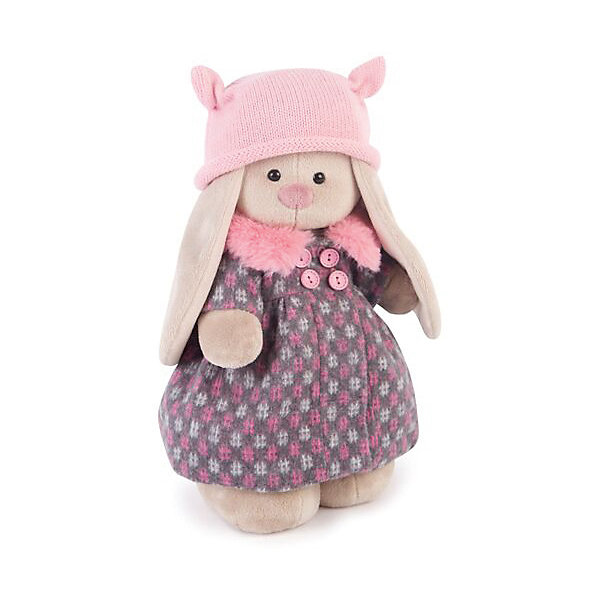 Мягкая игрушка Budi Basa Зайка Ми в пальто и розовой шапке, 32 смМягкие игрушки зайцы и кролики<br>Характеристики товара:<br><br>• возраст: от 3 лет;<br>• материал: текстиль, искусственный мех;<br>• высота игрушки: 32 см;<br>• упаковка: подарочная упаковка крафтового типа;<br>• размер упаковки: 61х40х29 см;<br>• вес упаковки: 580 гр.;<br>• страна производитель: Россия.<br><br>Мягкая игрушка «Зайка Ми в пальто и розовой шапке» Budi Basa - представляет собой фигурку прелестной зверушки с длинными ушками, наряженная в стильное пальто и модную вязаную шапочку. Верхнее одеяние дополняет чудесный пушистый воротничок нежного розового цвета. <br><br>Плюшевый зайка сшит из мягкого материала и приятен не только на вид, но и на ощупь. Особый наполнитель делает игрушку упругой, благодаря чему ей не страшны даже крепкие объятия.<br><br>Мягкую игрушку «Зайка Ми в пальто и розовой шапке», 32 см., Budi Basa можно приобрести в нашем интернет-магазине.<br>Ширина мм: 610; Глубина мм: 395; Высота мм: 290; Вес г: 580; Возраст от месяцев: 36; Возраст до месяцев: 2147483647; Пол: Унисекс; Возраст: Детский; SKU: 7491163;