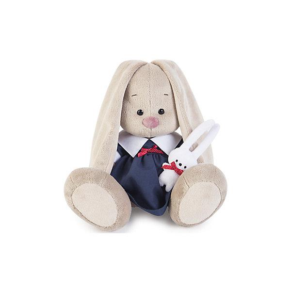 Мягкая игрушка Budi Basa Зайка Ми в синем платье с зайкой, 23 смМягкие игрушки зайцы и кролики<br>Характеристики товара:<br><br>• возраст: от 3 лет;<br>• материал: текстиль, искусственный мех;<br>• высота игрушки: 23 см;<br>• упаковка: подарочная упаковка крафтового типа;<br>• размер упаковки: 18х16х18 см;<br>• вес упаковки: 380 гр.;<br>• страна производитель: Россия.<br><br>Мягкая игрушка «Зайка Ми в синем платье с зайкой» Budi Basa - представляет собой фигурку прелестной зверушки с длинными ушками, наряженная в стильное платье. <br><br>Зайка в строгом платье плотного сапфирового цвета с белым объёмным воротником и белыми манжетами. Спереди платье украшено алым бантиком в белый горошек из атласной ленты. В лапках Зайка держит игрушку - беленького зайчика с алым бантиком.<br><br>Плюшевый зайка сшит из мягкого материала и приятен не только на вид, но и на ощупь. Особый наполнитель делает игрушку упругой, благодаря чему ей не страшны даже крепкие объятия.<br><br>Мягкую игрушку «Зайка Ми в синем платье с зайкой», 23 см., Budi Basa можно приобрести в нашем интернет-магазине.<br>Ширина мм: 180; Глубина мм: 160; Высота мм: 180; Вес г: 380; Возраст от месяцев: 36; Возраст до месяцев: 2147483647; Пол: Унисекс; Возраст: Детский; SKU: 7491165;