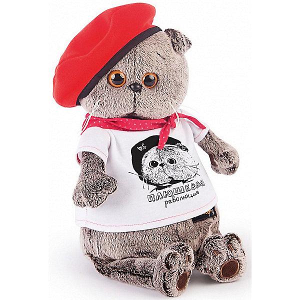 Купить Мягкая игрушка Budi Basa Кот Басик с принтом Плюшевая революция, 22 см, Россия, Унисекс