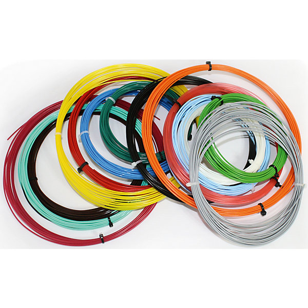 Комплект PLA-пластика Tiger3D для 3D- ручек, 1.75 мм 14 цветов по 9 метровПластик для 3D ручек<br>Характеристики товара:<br><br>• возраст: от 6 лет;<br>• материал: пластик PLA;<br>• в комплекте: 14 цветов по 9 метров;<br>• диаметр нити: 1,75 мм;<br>• размер упаковки: 35х30х5 см;<br>• вес упаковки: 400 гр.;<br>• страна производитель: Китай.<br><br>Комплект PLA-пластика Tiger 3D — дополнительный комплект пластика для ручек Tiger.<br><br>Комплект PLA-пластика Tiger 3D можно приобрести в нашем интернет-магазине.<br>Ширина мм: 350; Глубина мм: 300; Высота мм: 50; Вес г: 400; Возраст от месяцев: 72; Возраст до месяцев: 2147483647; Пол: Унисекс; Возраст: Детский; SKU: 7491227;