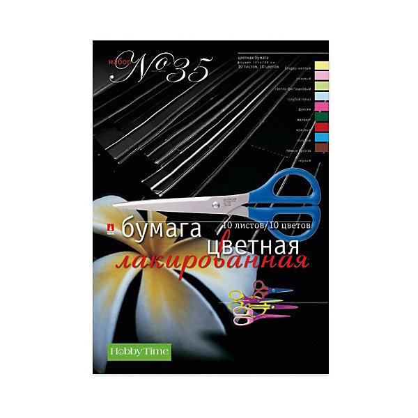 Набор цветной бумаги № 35 Альт А4, 10 листов (лакированная)Бумажная продукция<br>Характеристики товара: <br><br>• возраст: от 6 лет;<br>• формат бумаги: А4;<br>• размер: 195х288 мм;<br>• плотность бумаги: 75 гр./кв.м.;<br>• количество листов: 10;<br>• количество цветов: 10;<br>• размер упаковки: 29,5х20,3х1 см;<br>• вес упаковки: 80 гр.;<br>• страна производитель: Россия.<br><br>Набор №35 цветной лакированной бумаги Альт включает 10 листов цветной бумаги. Бумага подойдет для декорирования, изготовления поделок, открыток, украшений.<br><br>Набор №35 цветной лакированной бумаги Альт можно приобрести в нашем интернет-магазине.<br>Ширина мм: 295; Глубина мм: 203; Высота мм: 10; Вес г: 80; Возраст от месяцев: 72; Возраст до месяцев: 2147483647; Пол: Унисекс; Возраст: Детский; SKU: 7502252;