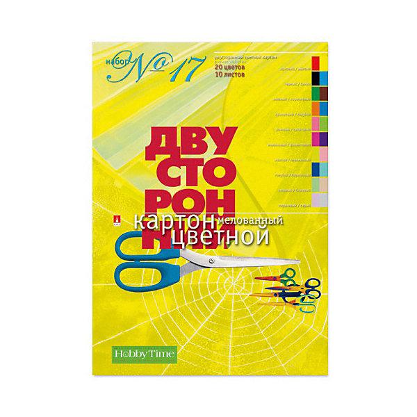 Набор цветного картона № 17 Альт А4, 10 листов (двухсторонний)Бумажная продукция<br>Характеристики товара: <br><br>• возраст: от 6 лет;<br>• формат: А4;<br>• размер: 195х288 мм;<br>• количество листов: 10;<br>• количество цветов: 20;<br>• размер упаковки: 29,5х20,5х2 см;<br>• вес упаковки: 150 гр.;<br>• страна производитель: Россия.<br><br>Набор №17 цветного картона Альт включает 10 листов плотного картона, каждая сторона которого разного цвета. Он подойдет для изготовления поделок, игрушек, открыток, украшений.<br><br>Набор №17 цветного картона Альт можно приобрести в нашем интернет-магазине.<br>Ширина мм: 295; Глубина мм: 205; Высота мм: 20; Вес г: 133; Возраст от месяцев: 72; Возраст до месяцев: 2147483647; Пол: Унисекс; Возраст: Детский; SKU: 7502255;