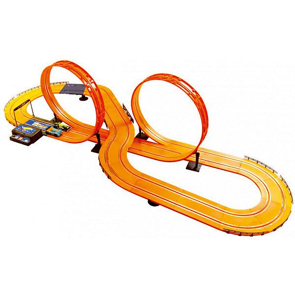 Автотрек Kidz Tech Hot Wheels Challenge Level (свет), 632 см, 1:43Автотреки<br>Характеристики:<br><br>• тип игрушки: трек;<br>• возраст: от 5 лет;<br>• размер: 7,6х72,4х38,9 см;<br>• масштаб: 1:43;<br>• тип батареек: 6хАА;<br>• наличие батареек: в комплект не входят;<br>• комплектация: два проводных пульта и две машинки;<br>• вес: 2,8 кг;<br>• бренд: KidzTech;<br>• страна производителя: Китай.<br><br>Трек KidzTech, Hot Wheels на батарейках непременно заинтересует юного гонщика. Из высококачественных деталей мальчик сможет собрать трассу ярко-оранжевого цвета длиной более 6 метров, включающую крутые повороты и 2 петли. <br><br>С помощью пультов дистанционного управления можно управлять машинками, совершая крутые виражи и ставя новые достижения. Мальчик может пригласить в гости своих друзей и устаивать головокружительные гонки прямо у себя дома. В комплекте есть два проводных пульта и две машинки.<br><br>Трек KidzTech, Hot Wheels на батарейках можно купить в нашем интернет-магазине.<br>Ширина мм: 76; Глубина мм: 723; Высота мм: 388; Вес г: 2800; Возраст от месяцев: 60; Возраст до месяцев: 2147483647; Пол: Мужской; Возраст: Детский; SKU: 7502315;