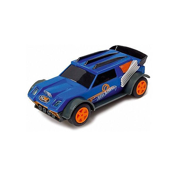 Машинка для трэка Kidz Tech Hot Wheels, 1:43 (синяя)Машинки<br>Характеристики:<br><br>• тип игрушки: машинка;<br>• возраст: от 5 лет;<br>• размер: 4х7х19 см;<br>• масштаб: 1:43;<br>• цвет: сине-коричневый;<br>• вес: 98 гр;<br>• материал: пластик;<br>• бренд: KidzTech;<br>• страна производителя: Китай.<br><br>Машинка KidzTech, Hot Wheels сине-коричневая представляет собой внедорожник, который способен развивать невероятную скорость! Корпус модели выполнен в сине-черном цвете, а диски имеют черно-оранжевый цвет. Машинка обладает световыми эффектами и предназначена для игры на автотреках Hot Wheels. <br><br>Такая машинка – желанный подарок для любого мальчика в возрасте от 5 лет. С помощью игры в гонки мальчик сможет развивать лидерские качества, разовьёт аналитические способности и научится не сдаваться в сложных ситуациях.  Машинка подходит только для треков Kidz Tech в масштабе 1:43.<br><br>Машинку KidzTech, Hot Wheels можно купить в нашем интернет-магазине.<br>Ширина мм: 40; Глубина мм: 70; Высота мм: 190; Вес г: 98; Возраст от месяцев: 60; Возраст до месяцев: 2147483647; Пол: Мужской; Возраст: Детский; SKU: 7502317;