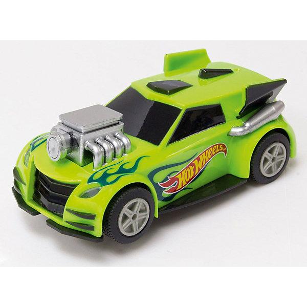 Машинка для трэка Kidz Tech Hot Wheels, 1:43 (зеленая)Машинки<br>Характеристики:<br><br>• тип игрушки: машинка;<br>• возраст: от 5 лет;<br>• размер: 4х7х19 см;<br>• масштаб: 1:43;<br>• цвет:  зеленый;<br>• вес: 98 гр;<br>• материал: пластик, металл;<br>• бренд: KidzTech;<br>• страна производителя: Китай.<br><br>Машинка KidzTech, Hot Wheels зеленого цвета - не только спортивная машинка, выполненная в масштабе 1:43, но и игрушка, которую можно использовать для треков Хот Вилс. Игрушечный автомобиль - детище торговой марки Kidz Tech, отличающееся поразительной детализированностью и качеством. Игрушка Hot Wheels оснащена световыми эффектами, а значит, гонки по треку будут как никогда зрелищными.<br><br>Машинку KidzTech, Hot Wheels можно купить в нашем интернет-магазине.<br>Ширина мм: 40; Глубина мм: 70; Высота мм: 190; Вес г: 95; Возраст от месяцев: 60; Возраст до месяцев: 2147483647; Пол: Мужской; Возраст: Детский; SKU: 7502319;