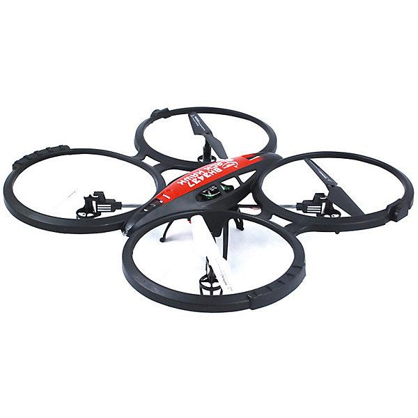 Квадрокоптер Властелин Небес Черный ЯстребКвадрокоптеры<br>Характеристики:<br><br>• тип игрушки: квадракоптер;<br>• возраст: от 12 лет;<br>• размер: 42х11х39 см;<br>• вес: 1,12 кг;<br>• тип батареек:  6 х АА / LR6 1.5V (пальчиковые) для пульта;<br>• наличие батареек: в комплект не входят;<br>• дальность действия: 200 м;<br>• комплект: квадрокоптер, пульт управления, USB-кабель для подзарядки, запасные лопасти, инструкция на русском языке;<br>• материал: пластик, металл;<br>• бренд: Властелин небес;<br>• страна бренда: Россия.<br><br>Квадрокоптер р/у Властелин Небес «Ястреб» превосходно подойдет как для начинающих, так и для профессиональных пилотов! Широкие возможности Черного ястреба позволят вам совершать умопомрачительные маневры в воздухе - мертвую петлю, сальто, бочку и многое другое.<br><br>Благодаря 6-осевому гироскопу квадрокоптер очень стабильно ведет себя в полете, что позволяет его запускать не только в закрытом помещении, а также на открытом воздухе! Полетные огди сделают ваш полет более эффектным в темное время суток. Благодаря защите винтов и прочному материалу, из которого сделан корпус квадрокоптера, ему не страшны случайные столкновения с препятствиями и падения. Эта игрушка подарит вам и окружающим массу положительных эмоций.<br><br>Квадрокоптер р/у Властелин Небес «Ястреб» можно купить в нашем интернет-магазине.<br>Ширина мм: 340; Глубина мм: 80; Высота мм: 520; Вес г: 980; Возраст от месяцев: 144; Возраст до месяцев: 2147483647; Пол: Унисекс; Возраст: Детский; SKU: 7502330;