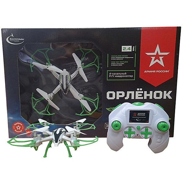 Квадрокоптер Властелин Небес «Орлёнок»Квадрокоптеры<br>Характеристики:<br><br>• тип игрушки: квадракоптер;<br>• возраст: от 12 лет;<br>• размер:42х8х28 см;<br>• вес: 620 гр;<br>• наличие батареек: в комплект не входят;<br>• комплект: квадрокоптер, пульт дистанционного управления;<br>• материал: пластик;<br>• бренд: Властелин небес;<br>• страна бренда: Россия.<br><br>Квадрокоптер р/у Властелин Небес «Орленок» готов взмыть ввысь!Управление им осуществляется с командного пункта на земле, где ребенок, вооружившись пультом, может контролировать полет своего дрона. Джойстик для управления квадрокоптером удобно лежит в руках и оснащен большими кнопками и дисплеем. Вращающиеся винты игрушки защищены легкими пластмассовыми барьерами. Дрон имеет небольшие размеры и малый вес, отчего его аэродинамические свойства, конечно, только улучшаются.<br><br>Квадрокоптер р/у Властелин Небес «Орленок» можно купить в нашем интернет-магазине.<br>Ширина мм: 420; Глубина мм: 80; Высота мм: 280; Вес г: 620; Возраст от месяцев: 144; Возраст до месяцев: 2147483647; Пол: Унисекс; Возраст: Детский; SKU: 7502334;