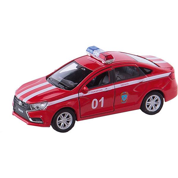 Машинка Welly Lada Vesta Пожарная охрана, 1:34-39Машинки<br>Характеристики товара:<br><br>• возраст: от 3 лет;<br>• материал: металл;<br>• масштаб: 1:34-39;<br>• размер упаковки: 15х12х6 см;<br>• вес упаковки: 164 гр.;<br>• страна производитель: Китай.<br><br>Модель машины Welly «Lada Vesta Пожарная охрана» представляет собой копию настоящего автомобиля и отличается высокой детализацией. У машинки вращаются колеса, и открываются передние двери. По бокам машины нанесены полоски с надписью «Пожарная охрана», а на крыше расположена мигалка. Корпус выполнен из качественного прочного металла.<br><br>Модель машины Welly «Lada Vesta Пожарная охрана» можно приобрести в нашем интернет-магазине.<br>Ширина мм: 150; Глубина мм: 60; Высота мм: 120; Вес г: 164; Возраст от месяцев: 36; Возраст до месяцев: 2147483647; Пол: Мужской; Возраст: Детский; SKU: 7505615;