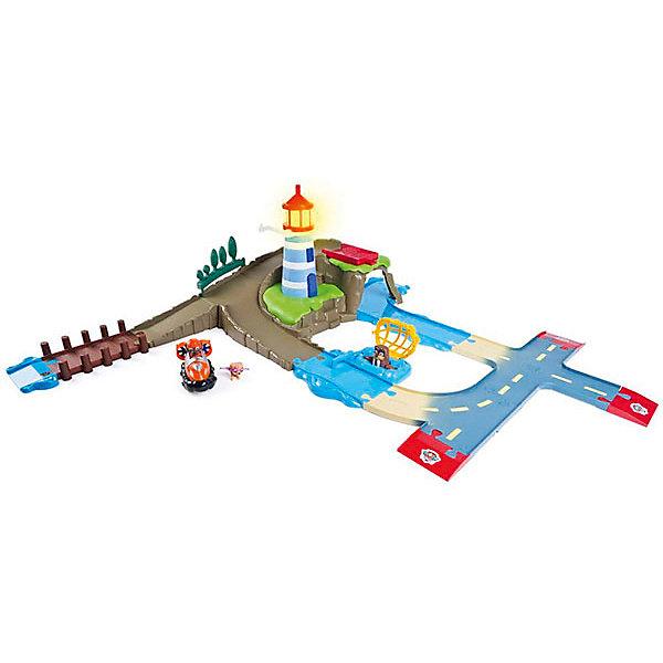 Автотрек Spin Master Щенчий патруль с маякомАвтотреки<br>Характеристики товара:<br><br>• возраст: от 3 лет;<br>• материал: пластик;<br>• в комплекте: фигурка Скай, фигурка тюленя, фигурка Зумы на машине, маяк, детали трека;<br>• тип батареек: 3 батарейки LR44;<br>• наличие батареек: в комплекте демонстрационные;<br>• размер упаковки: 36х51х9 см;<br>• вес упаковки: 2,1 кг;<br>• страна производитель: Китай.<br><br>Игровой набор Spin Master Paw Patrol «Набор маяк» создан по мотивам известного мультсериала «Щенячий патруль» про отважных щенков-спасателей. На трассе расположился маяк. Если нажать на его верхушку, то он загорится. У маяка есть специальное крепление для фигурки Скай. Если присоединить ее, то получится как будто Скай летает вокруг маяка.<br><br>По трассе едет храбрый Зума на своей машине на помощь тюленю, который попался в ловушку. Как только машинка Зумы достигнет ловушки и заденет рычаг, тюлень будет спасен.<br><br>Все элементы совместимы с другими наборами серии Roll Patrol, что позволит создавать разнообразные треки. Детали изготовлены из качественного пластика.<br><br>Игровой набор Spin Master Paw Patrol «Набор маяк» можно приобрести в нашем интернет-магазине.<br>Ширина мм: 510; Глубина мм: 90; Высота мм: 360; Вес г: 2100; Возраст от месяцев: 36; Возраст до месяцев: 2147483647; Пол: Унисекс; Возраст: Детский; SKU: 7515830;