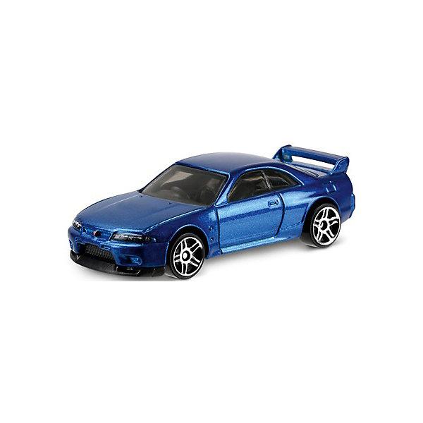 Машинка Hot Wheels из базовой коллекции, Hot WheelsПопулярные игрушки<br>Характеристики:<br><br>• возраст: от 3 лет;<br>• материал: металл, пластмасса;<br>• вес упаковки: 30 гр.;<br>• размер упаковки: 11х4х11 см;<br>• тип упаковки: блистерный;<br>• страна бренда: США.<br><br>Машинка Hot Wheels от Mattel входит в группу моделей базовой коллекции. Миниатюры этой серии изображают реальные автомобили, спорткары, фургоны, мотоциклы в масштабе 1:64, а также модели с собственным оригинальным дизайном. Собрав свою линейку машинок, ребенок сможет устраивать заезды, гонки и меняться экземплярами с друзьями.<br><br>Монолитные элементы игрушки увеличивают ее прочность. Падение и столкновение с твердыми предметами во время игр не отражается на внешнем виде и ходе машинки. Кузов отчетливо детализирован, покрыт стойкими насыщенными красками. Колеса легко вращаются вокруг своей оси.<br><br>Игрушка выполнена из качественных материалов, сертифицированных по стандартам безопасности для использования детьми.<br><br>Машинку Hot Wheels из базовой коллекции можно купить в нашем интернет-магазине.<br>Ширина мм: 110; Глубина мм: 45; Высота мм: 110; Вес г: 30; Возраст от месяцев: 36; Возраст до месяцев: 96; Пол: Мужской; Возраст: Детский; SKU: 7522200;