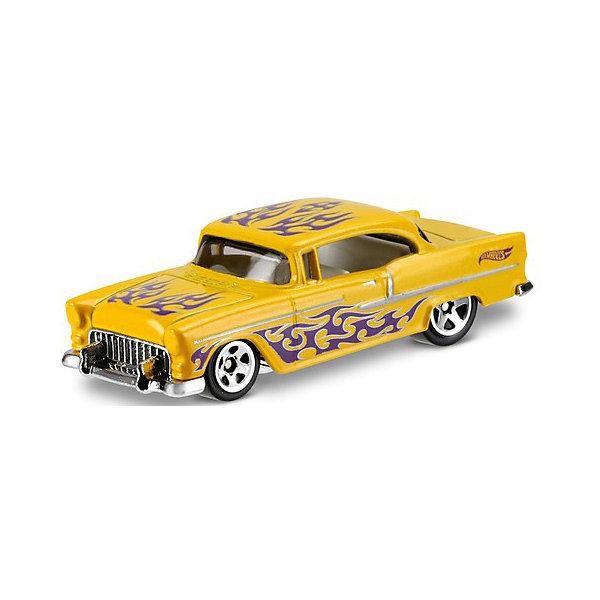Машинка Hot Wheels из базовой коллекции, Hot WheelsПопулярные игрушки<br>Характеристики:<br><br>• возраст: от 3 лет;<br>• материал: металл, пластмасса;<br>• вес упаковки: 30 гр.;<br>• размер упаковки: 11х4х11 см;<br>• тип упаковки: блистерный;<br>• страна бренда: США.<br><br>Машинка Hot Wheels от Mattel входит в группу моделей базовой коллекции. Миниатюры этой серии изображают реальные автомобили, спорткары, фургоны, мотоциклы в масштабе 1:64, а также модели с собственным оригинальным дизайном. Собрав свою линейку машинок, ребенок сможет устраивать заезды, гонки и меняться экземплярами с друзьями.<br><br>Монолитные элементы игрушки увеличивают ее прочность. Падение и столкновение с твердыми предметами во время игр не отражается на внешнем виде и ходе машинки. Кузов отчетливо детализирован, покрыт стойкими насыщенными красками. Колеса легко вращаются вокруг своей оси.<br><br>Игрушка выполнена из качественных материалов, сертифицированных по стандартам безопасности для использования детьми.<br><br>Машинку Hot Wheels из базовой коллекции можно купить в нашем интернет-магазине.<br>Ширина мм: 110; Глубина мм: 45; Высота мм: 110; Вес г: 30; Возраст от месяцев: 36; Возраст до месяцев: 96; Пол: Мужской; Возраст: Детский; SKU: 7522209;