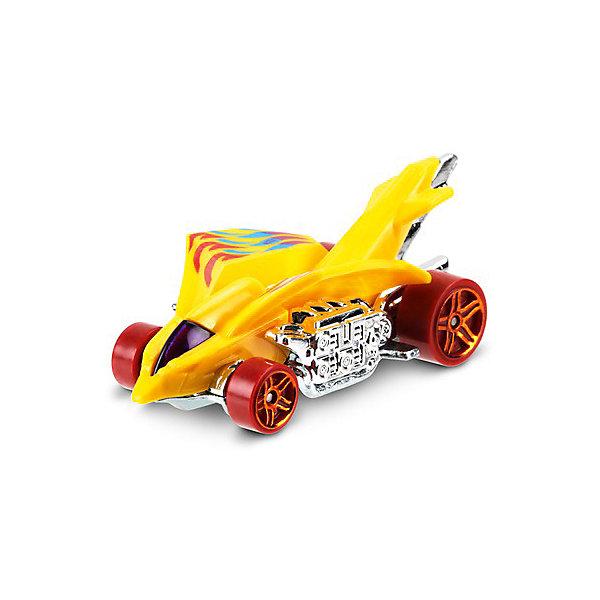 Машинка Hot Wheels из базовой коллекции, Hot WheelsПопулярные игрушки<br>Характеристики:<br><br>• возраст: от 3 лет;<br>• материал: металл, пластмасса;<br>• вес упаковки: 30 гр.;<br>• размер упаковки: 11х4х11 см;<br>• тип упаковки: блистерный;<br>• страна бренда: США.<br><br>Машинка Hot Wheels от Mattel входит в группу моделей базовой коллекции. Миниатюры этой серии изображают реальные автомобили, спорткары, фургоны, мотоциклы в масштабе 1:64, а также модели с собственным оригинальным дизайном. Собрав свою линейку машинок, ребенок сможет устраивать заезды, гонки и меняться экземплярами с друзьями.<br><br>Монолитные элементы игрушки увеличивают ее прочность. Падение и столкновение с твердыми предметами во время игр не отражается на внешнем виде и ходе машинки. Кузов отчетливо детализирован, покрыт стойкими насыщенными красками. Колеса легко вращаются вокруг своей оси.<br><br>Игрушка выполнена из качественных материалов, сертифицированных по стандартам безопасности для использования детьми.<br><br>Машинку Hot Wheels из базовой коллекции можно купить в нашем интернет-магазине.<br>Ширина мм: 110; Глубина мм: 45; Высота мм: 110; Вес г: 30; Возраст от месяцев: 36; Возраст до месяцев: 96; Пол: Мужской; Возраст: Детский; SKU: 7522216;